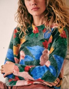 a beautiful modernist french landscape on your sweater Jumper, Lingerie, Casual Party, Parisian Style, Rock, Pulls, Long Sleeve Sweater, Knitwear, Collection