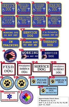 Service Dog Gear - Reflective Service Dog Vest with ID Badge ...