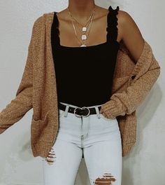 🥀 Simple & cute - Shop this look @ www. Casual School Outfits, Teenage Outfits, Cute Comfy Outfits, Teen Fashion Outfits, Simple Outfits, Pretty Outfits, Stylish Outfits, Teen Fashion Style, Cute Outfit Ideas For School