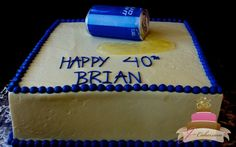 (147) Beer Can Birthday Cake