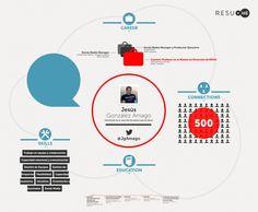 Infografía realizada con Resu.me de mi CV de Linkedin