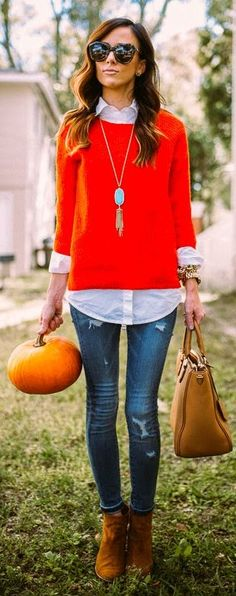 Bright Red Knit Sweater by Sequins & Things