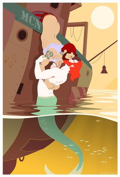 Merman Fantasy: Disney's Gay Love Story. (Tribute to Matthew Howorth by Andrea Lepre)