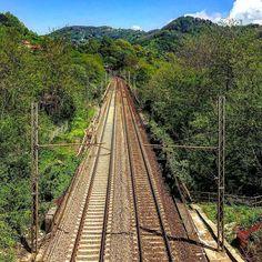 #eastermonday #afternoon #sky #april #railway #fromheretoeternity #fromheretonowhere #liguria #genova #walking