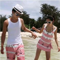 Matching swimwear for couples. This is the cutest matching ...