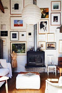 * wunderkammer *: Paredes de ladrillo visto pintadas de blanco /// Wände mit sichtbarem Mauerwerk weiss gestrichen /// Brick walls in painted in white