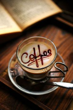 You just take chocolate sauce and write over the latte art. Café Latte, Coffee Latte Art, I Love Coffee, Hot Coffee, Iced Coffee, Coffee Drinks, Coffee Cups, Expresso Coffee, Coffee Life