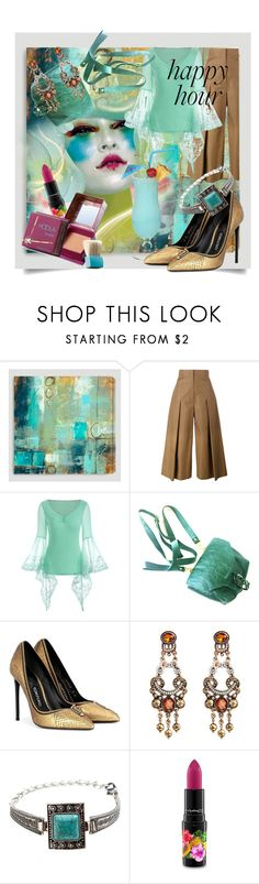 """Bottoms Up: Happy Hour"" by kari-c ❤ liked on Polyvore featuring Cost Plus World Market, Fendi, Tom Ford, MAC Cosmetics, Benefit and happyhour"