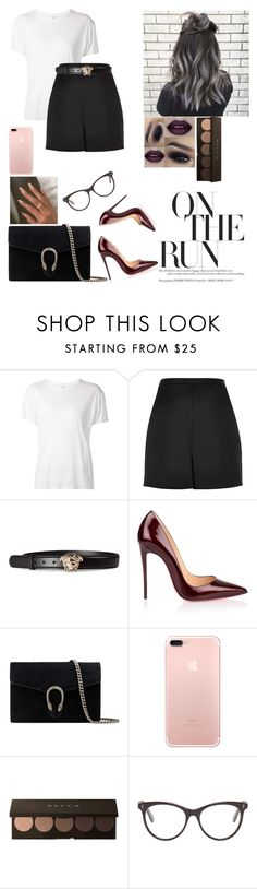"""""""Untitled #637"""" by luisa-gab ❤ liked on Polyvore featuring R13, River Island, Versace, Christian Louboutin, Gucci, Converse and STELLA McCARTNEY"""