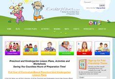 Free Preschool and Kindergarten Lesson Plans. #homeschool
