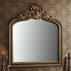 Josephine Crested Overmantle Mirror Gold 112 x Overmantle Mirror, French Mirror, Josephine, How To Look Rich, Beautiful Mirrors, French Antiques, Antique Gold, Reflection, Shabby Chic