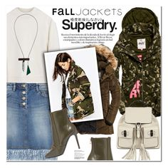"""""""The Cover Up – Jackets by Superdry: Contest Entry"""" by nanawidia ❤ liked on Polyvore featuring Superdry, Acne Studios, Steve J & Yoni P, Balmain, Gucci and Enföld"""