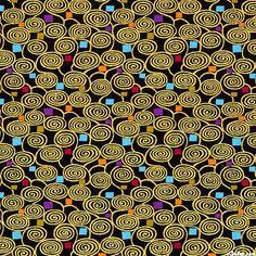 Intrigue - Confetti Spirals - Black/Gold