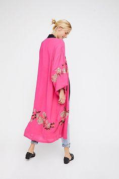 Slide View 2: Floral Embroidered Kimono