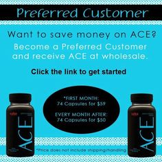 ACE (Appetite Control & Energy) is All Natural Ingredients! Safe! No Jitters! Great Pre-Workout Energy Boost! Keeps your mind clear to help focus! Affordable Price!! http://aceappetitecontrolplusenergy.us