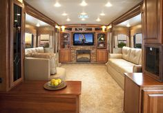 Rv and trailers on pinterest luxury rv motorhome and - Infinity fifth wheel front living room ...