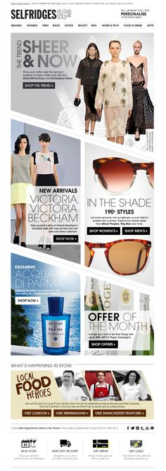 Selfridges Newsletter
