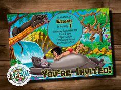 JUNGLE BOOK Birthday Invitaiton Disney by PinkFrostingPaperie