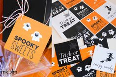 Free Halloween treat bag printables!