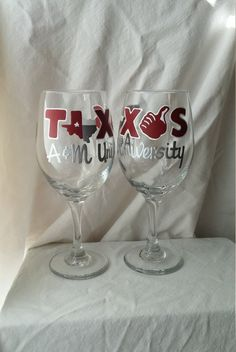 Hey, I found this really awesome Etsy listing at https://www.etsy.com/listing/266007641/texas-a-m-aggies-hand-painted-wine-glass
