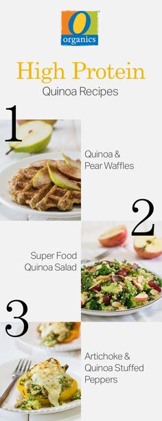 Try these three recipes for breakfast, lunch and dinner! Simply meal prep your O Organics® quinoa now and enjoy these recipes later!