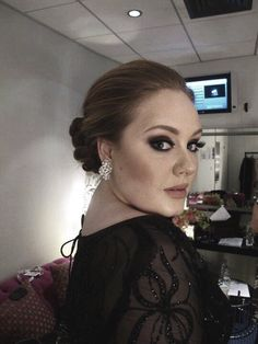 Adele backstage at the Brits (2011)