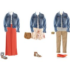 Denim jacket by hii-live on Polyvore featuring H&M, Oasis, American Vintage…