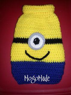 MogoMade Crochet Minion Dog Sweater www.facebook.com/mogomade