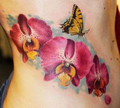 Realism Flowers Tattoo by John Maxx - http://worldtattoosgallery.com/realism-flowers-tattoo-by-john-maxx-2/