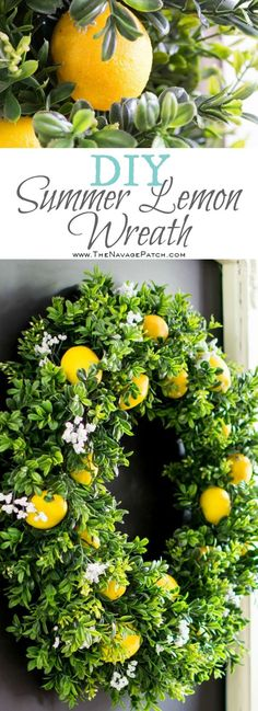 DiY Summer Lemon Wre