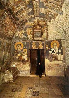 Serbian-Orthodox Monastery Patriarchate of Peć Serbia Byzantine Icons, Byzantine Art, Church Architecture, Ancient Architecture, Early Christian, Christian Art, Fresco, Christian Religions, Cult