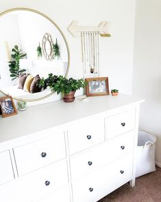 Apartment bedroom makeover 🌿 The arrow earring holder isny my vibe but other than that this is pretty coot Target Home Decor, Aesthetic Bedroom, Home Living, My New Room, Room Decor Bedroom, Room Inspiration, Decoration, Interior Design, Ikea Dresser Hemnes