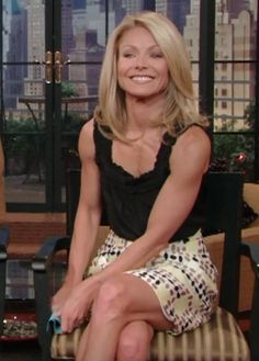 Kelly Ripa's lovely capped delts.  Somebody's been lifting.