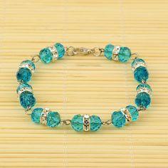 PandaHall Jewelry—Glass Bracelets with Brass Rhinestone Beads | PandaHall Beads Jewelry Blog