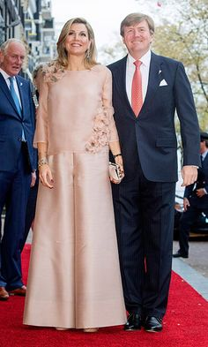 May 5: Queen Maxima of The Netherlands donned a silk flower-embroidered blouse and ultra-wide leg trousers as she joined husband King Willem-Alexander at theannual Liberation Day concert on the Amstel in Amsterdam.<br>Photo: Patrick van Katwijk/Getty Images