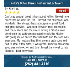 Can't say enough great things about Kelly's! We eat here every time we visit the OBX. Our...