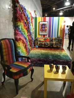 Rainbow Lounge in the Facade Funhouse  #museumoficecream