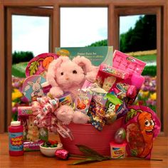 Easter baskets easter bunnies easter eggs chocolate free easter gift baskets easter basket easter gift childs easter basket negle Image collections