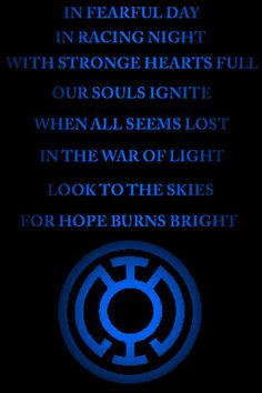 blue lantern oath - Google Search