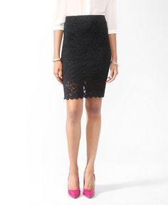 Scalloped Lace Skirt   FOREVER21 - 2000048010