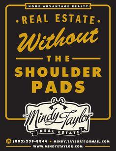 ad design | Mindy Taylor Real Estate | The Dapper Paper Co.  #dapper_paper #graphic_design #advertising