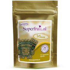Maca is een hoogwaardig product dat afkomstig is uit biologisch geteelde gewassen. Maca wordt ook wel het Ginseng van Peru genoemd. Maca zorgt voor meer energie en kan gebruikt worden voor het libido van man en vrouw. De capsules zijn 100% plantaardig en zodoende geschikt voor vegetariërs. 1 capsule (500 mg)  komt overeen met 2 gram maca poeder. Prijs per 100 capsules: €16,95