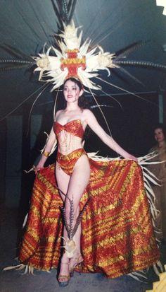 Trajes de Fantasía  Maíz... Oro Maya Señorita Quetzaltenango 2000