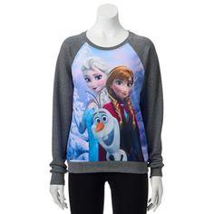 Disney's Frozen Ana, Elsa, Olaf Juniors' Sweatshirt
