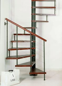 Furniture and Accessories. Cool Home Interior Corner Firenze Q Square Spiral Staircase Solid Beech Treads Coppery Black Metalwork Stainless Steel Wire Balustrade Circular Wooden Handrail. Cool Spiral Staircase Designs that Could Make You Wowed