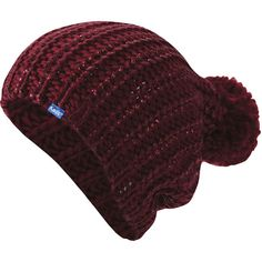 A slight dusting of metallic coating amps up the energy on this knit pom-pom beanie.  acrylic  spot clean  imported