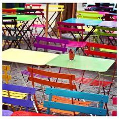 Paris Café photo - Rainbow Chairs, outdoor