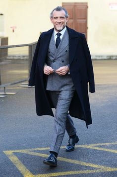 Perfect grey suit - distinguished.