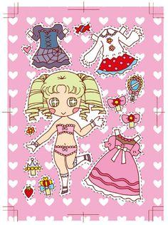 きせかえキャラ「ロリィタ子」 * 1500 free paper dolls at Arielle Gabriel's The International Paper Doll Society and also free paper dolls at The China Adventures of Arielle Gabriel *