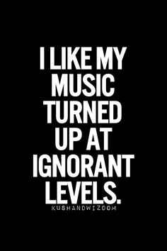 I like my music like I like my men...oh wait - no scratch that.  I like big brains and I cannot lie...ha.